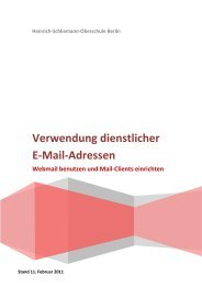 Verwendung dienstlicher E-Mail-Adressen - Heinrich Schliemann ...