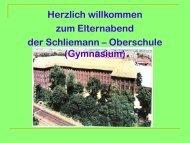 Laufbahnplanung - Heinrich Schliemann Gymnasium