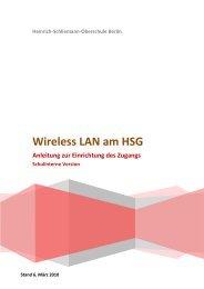 Wireless LAN am HSG - Heinrich Schliemann Gymnasium
