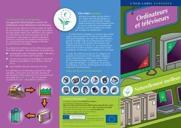 Ordinateurs et téléviseurs - Ecolabel