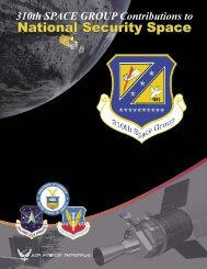310th SPACE GROUP Contributions to - 57th Bomb Wing