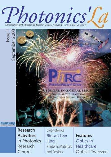 PhRC NEWSLETTER PHOTONICS'La - Nanyang Technological ...