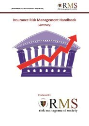 Insurance Risk Management Handbook (Summary)