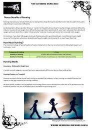 Fitness Benefits of Running How Much Running? Running Myths