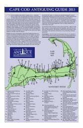 CAPE COD ANTIQUING GUIDE 2013 - Antiques and The Arts Weekly