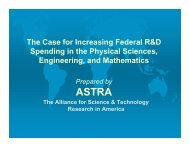The Case for Increasing Federal R&D Spending in the Physical ...