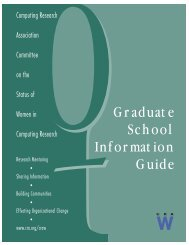 Graduate School Information Guide - Computing Research ...