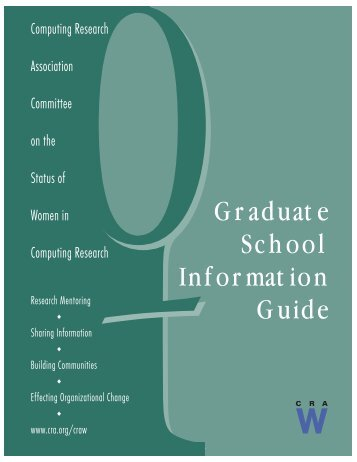 Graduate School Information Guide - Computing Research ...