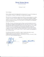 Dear Colleague DOE Office of Science Letter and Request