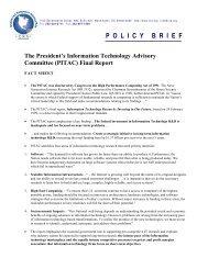 The PITAC Final Report (.pdf) - Computing Research Association