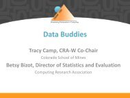 Tracy Camp (Colorado School of Mines) - Computing Research ...