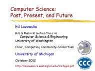 Past, Present, and Future - Computing Research Association