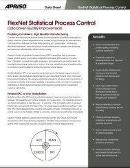 FlexNet Statistical Process Control - Apriso