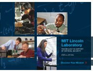 Discover Your Mission - MIT Lincoln Laboratory