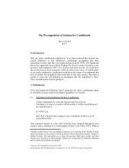 The Presupposition of Subjunctive Conditionals - CiteSeerX