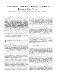 Nonuniform Codes for Correcting Asymmetric Errors in Data ... - MIT