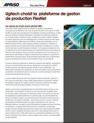 Ugitech choisit la plateforme de gestion de production FlexNet - Apriso