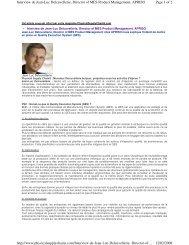 Interview de Jean-Luc Delcuvellerie, Director of MES - Apriso