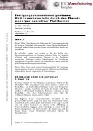 Fertigungsunternehmen gewinnen Wettbewerbsvorteile ... - Apriso