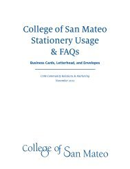 CSM Stationery Usage Guide - College of San Mateo