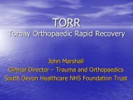 TORR Torbay Orthopaedic Rapid Recovery