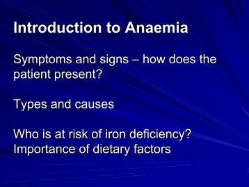 Introduction to Anaemia Introduction to Anaemia