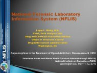 National Forensic Laboratory Information System (NFLIS)