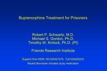 Buprenorphine Treatment for Prisoners