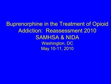 Buprenorphine in the Treatment of Opioid Addiction: Reassessment ...
