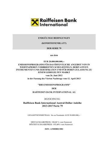 Endgültige Bedingungen final - Wiener Börse