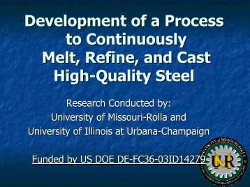 Development of a Process to Continuously Melt, Refine, and Cast ...