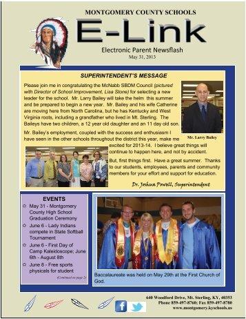 Electronic Parent Newsflash - Montgomery County Schools