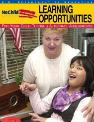 Learning Opportunities For Your Child Through Alternate Assessments