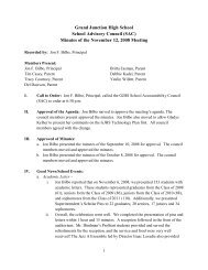 Minutes of the November 12, 2008 Meeting - Grand Junction High ...