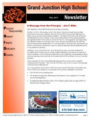 may newsletter - Grand Junction High School