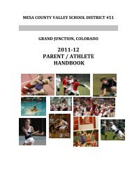 Parent / Athlete Handbook - Grand Junction High School