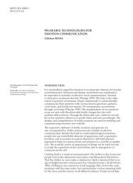 wearable technologies for emotion communication - Journal of the ...