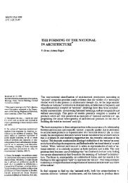 the forming of the national in architecture - Journal of the Faculty of ...