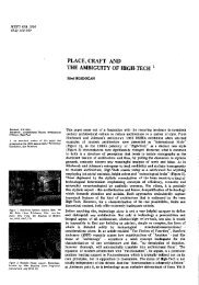 place, craft and the ambiguity of high-tech - Journal of the Faculty of ...