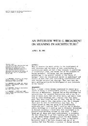 an interview with g. broadbent on meaning in architecture