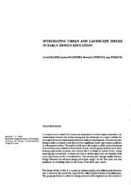 INTEGRATING URBAN AND LANDSCAPE ISSUES - Journal of the ...
