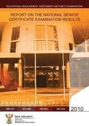 Report on the National Senior Certificate Examination Results 2010.