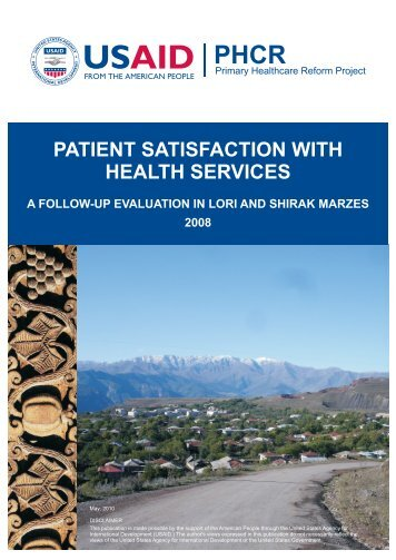 PATIENT SATISFACTION WITH HEALTH SERVICES - Center for ...