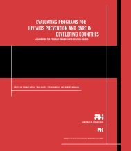 Evaluating Programs for HIV/AIDS Prevention and Care in ... - CHSR