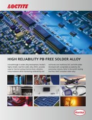 View or Download the High Reliability PB-Free Solder Alloy - Henkel