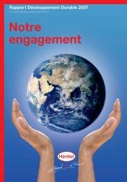 Rapport Développement Durable 2007 Notre engagement - Henkel