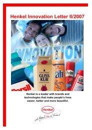 Henkel Innovation Letter II/2007