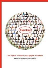 Rapport Développement Durable 2009 - Henkel