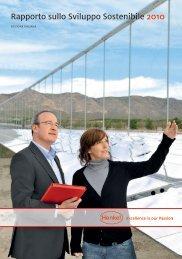 Rapporto sullo Sviluppo Sostenibile 2010 - EDIZIONE ... - Henkel