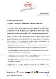 Press Release / PDF - Henkel
